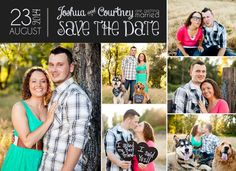Items similar to Double sided cardstock Save the Date/Announcement on Etsy