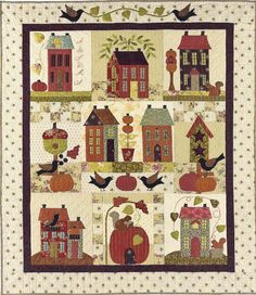Prim Folk Art BOM Applique Wall Quilt Pattern by PrimFolkArtShop, $35.00