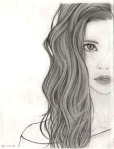 Cabello largo dibujo tumblr