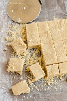 Israeli Halvah for - Halvah is a fudge like dense sweet prepared with tahini and sugar syrup, a popular sweet or dessert sold in Middle Eastern markets. Israeli Desserts, Israeli Food, Israeli Recipes, No Bake Desserts, Easy Desserts, Delicious Desserts, Dessert Recipes, Halvah Recipe, Sauces