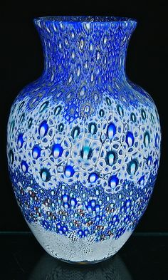 Broadband Murrini Vase: Michael Egan: Art Glass Vase | Artful Home