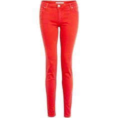 Victoria Beckham Denim Carnation Power Skinny Jeans ($234) ❤ liked on Polyvore