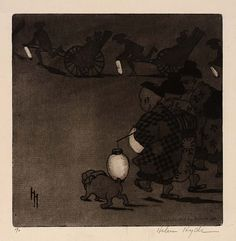Fireflies, Helen Hyde, 1906, etching and aquatint on paper, plate: 8 3/8 x 8 1/8 in. (21.3 x 20.6 cm), Smithsonian American Art Museum, Gift of Hyde Gillette in memory of Mabel Hyde Gillette and Edwin Fraser Gillette, 1992.13.43