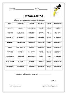 Cuadernillo lectura rapida Spanish Grammar, Teaching Spanish, Spanish Language, Reading Strategies, Reading Activities, Guided Reading, Spanish Activities, Study Apps, Bilingual Education