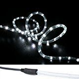 WYZworks 50 ft Cool White PRE-ASSEMBLED LED Rope Lights - 2 Wire Christmas Holiday Decoration Indoor / Outdoor... christmas deals week