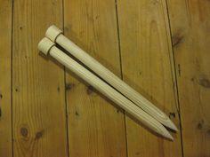 25mm x 40cm giant knitting needles Handmade and wooden
