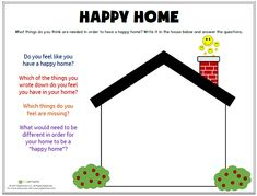 What does a happy home look like to you? This resource helps kids explore and process family relationships and dynamics! Find this worksheet and more great resources at www.mylemarks.com! #parenting #family #familytime #happyhome #familyrules