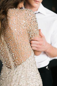 Sparkly wedding gown - Waiting On Martha - Sparkly Wedding Gowns, Wedding Bells, Sparkle Wedding, Pink Sparkly, Sparkly Wedding Dresses, White Sparkly Dress, Blush Pink, Sparkle Gown, Sequin Wedding