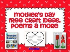 LMN Tree: Mothers Day Free Craft Ideas and Poems for K-1