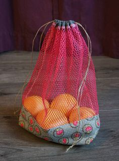 Trendy Bag Description Fillet for Fruits and Vegetables – The … - Womens Bags Diy Sac, Bags 2017, Produce Bags, Creation Couture, Couture Sewing, Fabric Bags, Sewing Projects For Beginners, Handmade Bags, Bag Making
