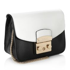 Furla Metropolis Mini Crossbody Onyx+Chalk