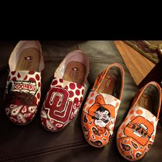 Painted shoes...duke? blackhawks? cardinals? the possibilities are endless
