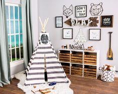 kids bedroom decor and playroom decor Playroom Design, Playroom Decor, Playroom Ideas, Boy Wall Decor, Playroom Lounge, Basement Play Area, Kid Playroom, Playroom Storage, Kids Bedroom