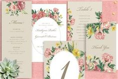 The most beautiful and unique wedding invitations, RSVP cards, and other wedding stationery available in Ireland, the UK and worldwide. Unique Wedding Invitations, Wedding Stationery, Printable Invitations, Printables, Wedding Table, Wedding Day, Painted Flowers, Yellow Painting, Stationery Design