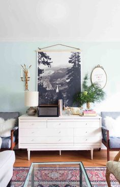 DIY black and white poster wall hanging - Lay Baby Lay Lay Baby Lay Nursery Inspiration, Home Decor Inspiration, Posters Vintage, Black And White Posters, Black White, Living Spaces, Living Room, Home And Deco, My New Room