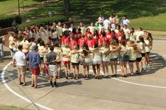 Centenary College of Louisiana Chi Omega Bid Day 2013 #iotagamma #circlecheer