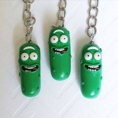 Handmade, Rick and Morty Pickle Ricks, Crafted from Polym… – Hobbies paining body for kids and adult Polymer Clay Animals, Polymer Clay Charms, Polymer Clay Earrings, Diy Clay, Clay Crafts, Easy Clay Sculptures, Accesorios Casual, Cute Clay, Polymer Clay Miniatures