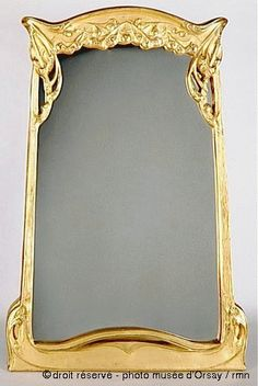 1910 Hector Guimard art nouveau wooden mirror (collection of the Musee d'Orsay)
