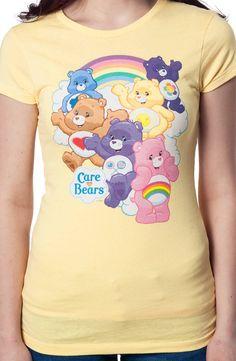 Rainbow Care Bears Shirt: 80s Cartoons Care Bears T-shirt
