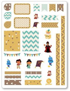 Genie & Friends Decorating Kit / Weekly Spread Planner Stickers for Erin Condren Planner, Filofax, Plum Paper