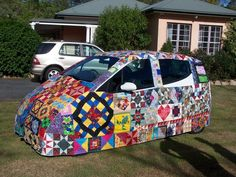quilted cars | In the Spring a Quilter's Fancy Turns to Quilt Cars!