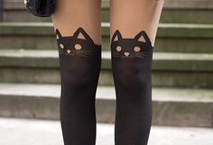 Kitty Cat tights -- I just died a little inside, these are so cute.