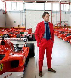 Ferrari red style suit #PerfectWedding