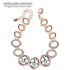 Austrian Crystal Gold Plated Bangles & Bracelets for Women Jewelry  New Gift QC2