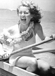 """"""" Lana Turner in Hawaii, 1940 """""""