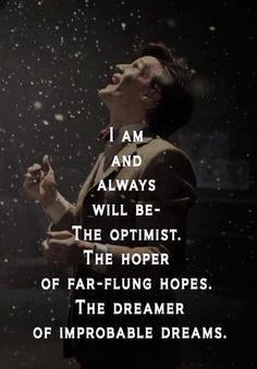 I'm an optimist too.
