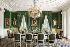 Traditional Dining Room by Alexa Hampton and Peter M. Trapolin in New Orleans, Louisiana