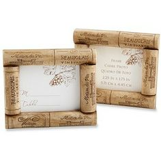 Winery Wedding Cork Place Card Frame Favor