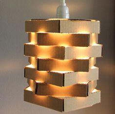 Tip MantenloVerde: Lámpara decorativa reutilizando cartón.