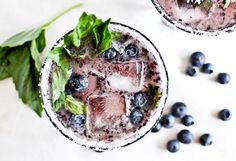 Roasted Blueberry Basil Margaritas | 25 Unusual Margarita Recipes That Will Get You Tipsy AF