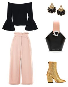 """Mys"" by ha-anh-i ❤ liked on Polyvore featuring Alexis, Topshop, Danse Lente and Petar Petrov"
