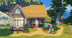 home layout plans 503418064593496168 - Chaumière (Starter) Source by adestudiosimscr Sims 4 House Plans, Sims 4 House Building, Building Games, The Sims 4 Lots, Sims 4 House Design, Cartoon House, Sims 4 Build, Sims 4 Custom Content, Design Your Home