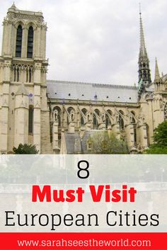 Everyone loves Europe, I mean what's not to love? There are so many beautiful places in Europe, so how do you choose which one to visit? We've narrowed it down to our top 8 must visit cities in Europe. This will make planning your trip to Europe much easier. Don't forget to save this pin to help plan your trip!