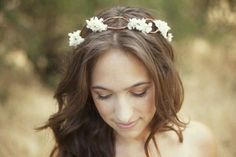 Crown twist with flowers