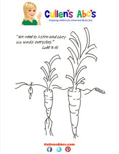 Parable of the Sower Bible Memory Verse Coloring Page. For a complete approach to Christian worship at home, use Cullen's Abc's DIY Online Preschool where each worship theme is covered for three days to help your child develop their relationship with God!