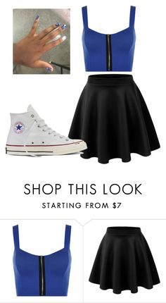 """Untitled #364"" by cuteskyiscute on Polyvore featuring WearAll, LE3NO and Converse"