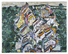 """Egon Schiele's """"Town Among Greenery (The Old City III)"""" from 1917. 