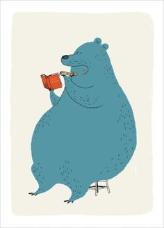Buy Bear Poster for Kids, Illustration by Dominique Le Bagousse by bessie