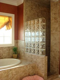 glass block showers | Glass Block Shower Entrance | Flickr - Photo Sharing!