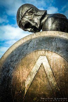 Statue of Spartan warrior, Sparta, Greece