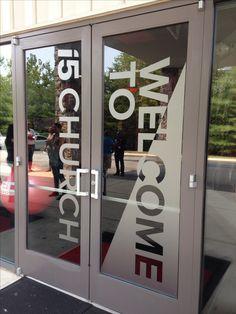 sweet door signage @i5church