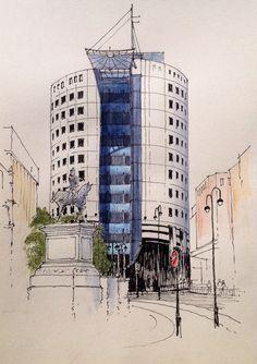 No 1 City Square, Leeds ~ sketch ~ John Edwards