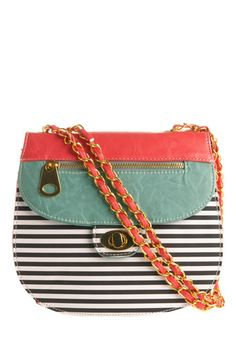 teal, coral and stripes