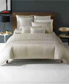 Look dazzling. Chic crystal-shaped quilted accents adorn the rich champagne hue on Hotel Collection's Crystalle coverlet-a contemporary look with 5-star elegance. | Polyester; polyester fill | Machine
