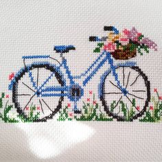 Types Of Handbags, Stitch 2, Louis Vuitton Handbags, Cross Stitching, Cross Stitch Patterns, Diy And Crafts, Bicycle, Kids Rugs, Embroidery