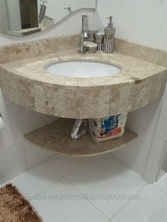 Ver a imagem de origem Small Bathroom Sinks, Rustic Bathroom Vanities, Bathroom Tile Designs, Rustic Bathroom Decor, Bathroom Design Luxury, Bathroom Design Small, Bathroom Layout, Corner Sink Bathroom, Bathroom Cabinets